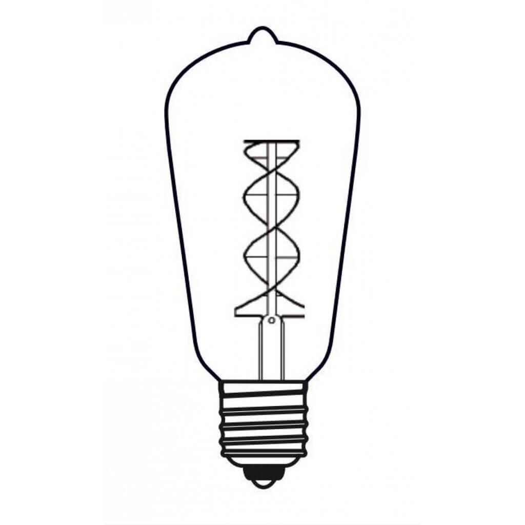 Ampoule twist vintage