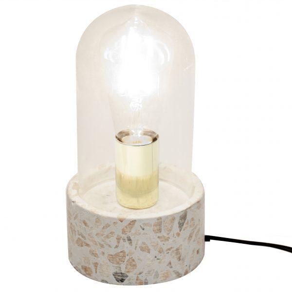Glasglocken-Leuchte Terrazzo