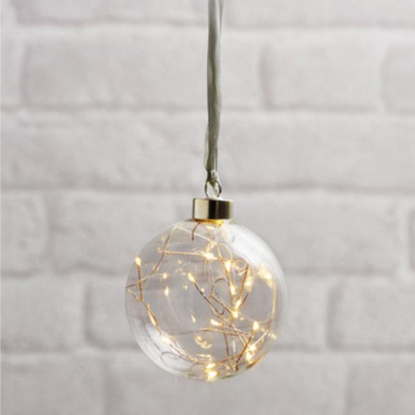 Boule ambre medium avec filament LED