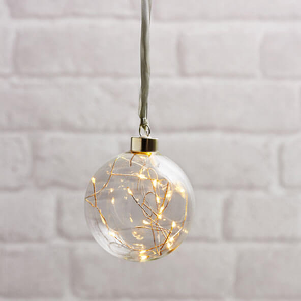 Boule transparente small avec filament LED