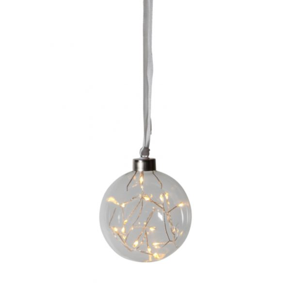 Boule transparente small avec filament LED