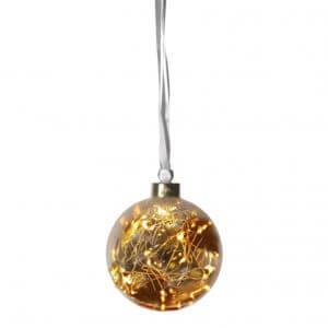 Boule ambre small avec filament LED