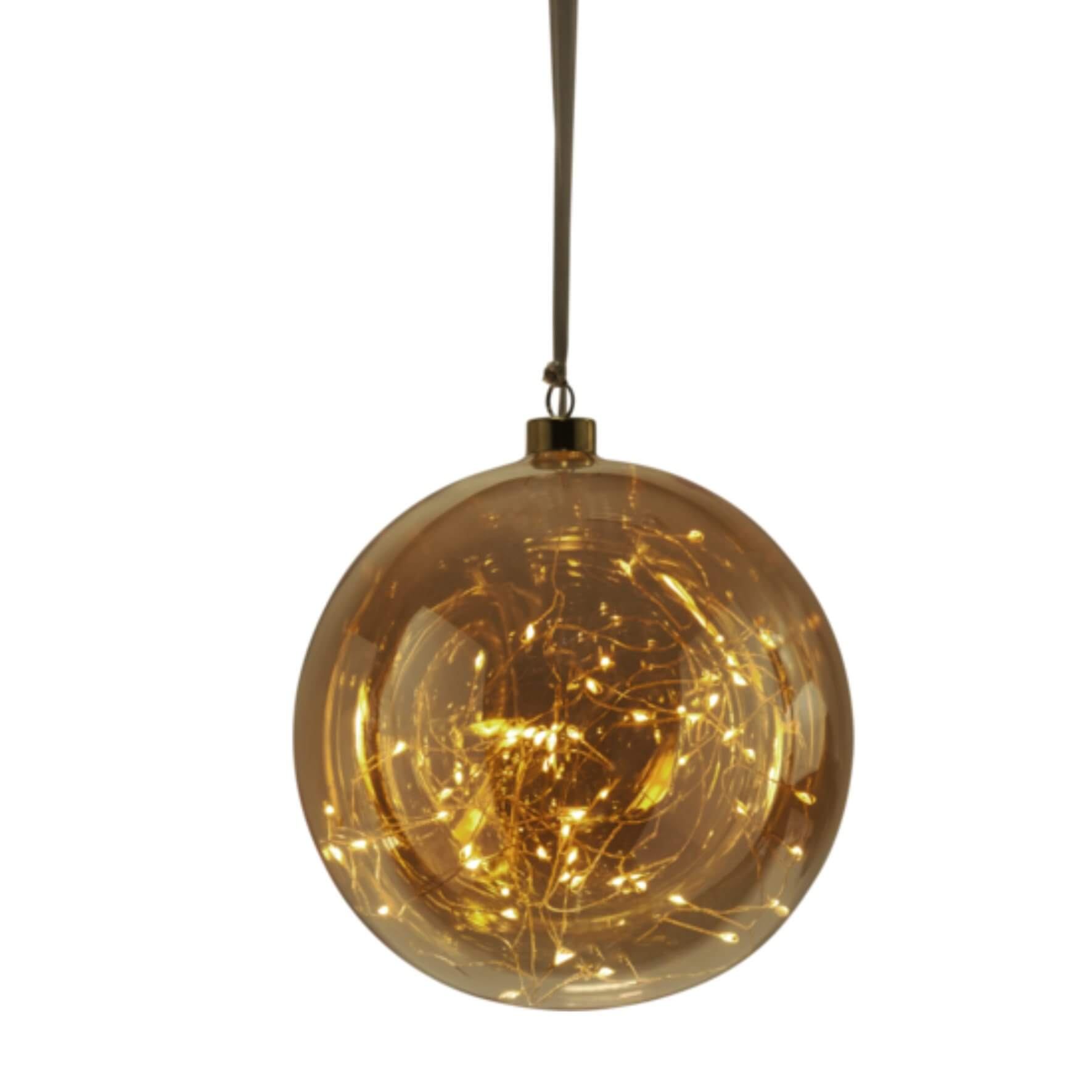 Boule de Noël ambre tall avec filament LED