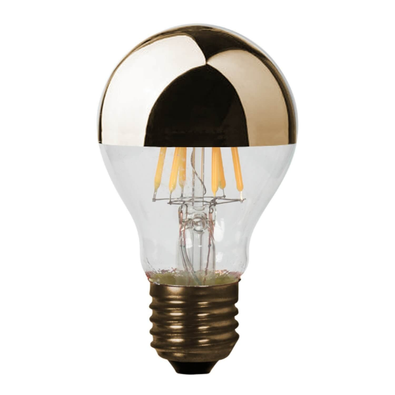 Klassische Retro LED-Glühbirne mit goldener Kappe