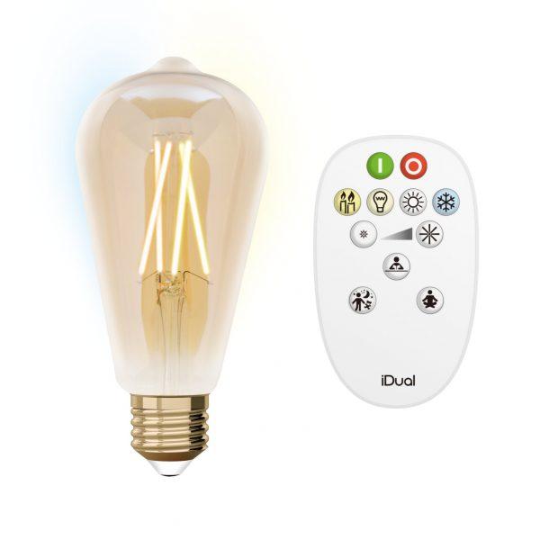 Ampoule E27 en cône connectée