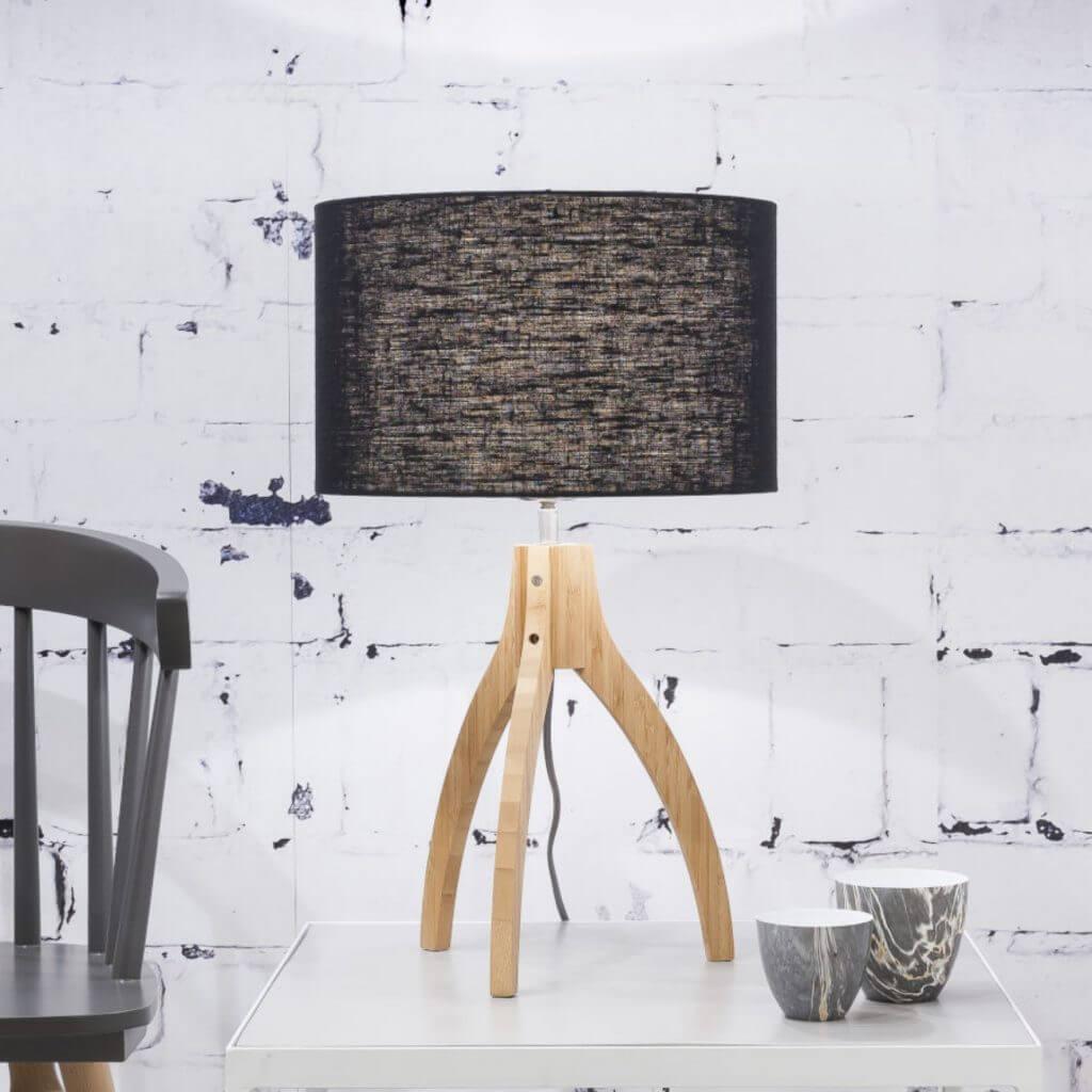 Lampe de table Annapurna avec abat-jour noir - Good & Mojo