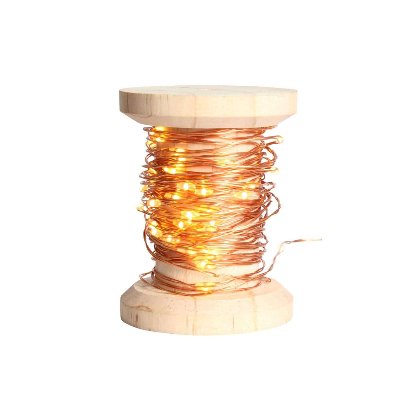 Guirlande en bobine LED cuivrée