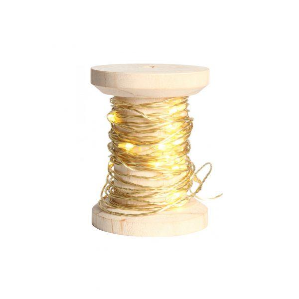 Guirlande en bobine LED dorée
