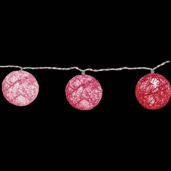 Lichtgirlande Kugel rosa