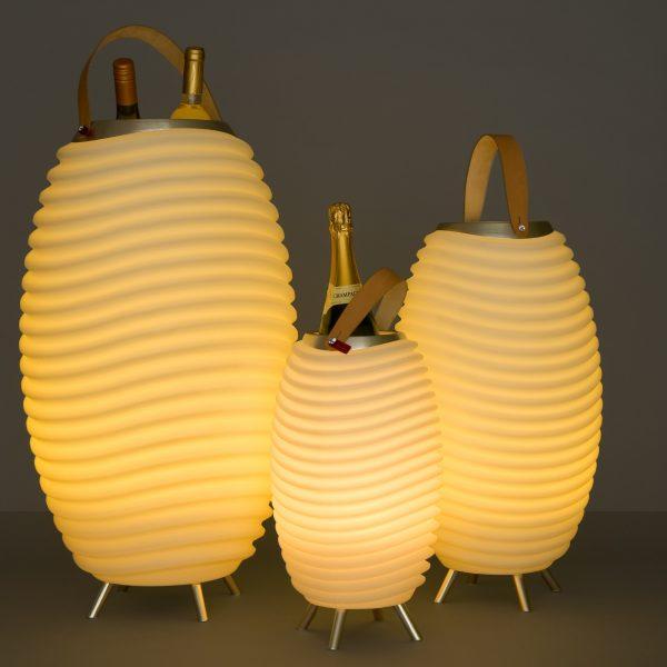Lampe de sol LED Kooduu audio tall