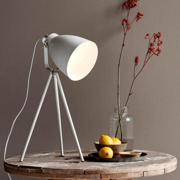 Lampe de table trépied blanc Largo