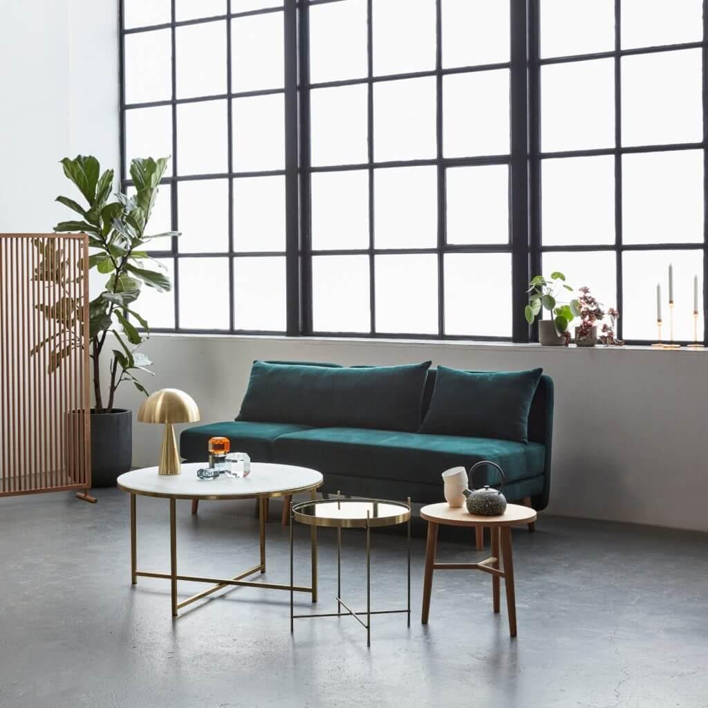Lampe de table lounge laiton
