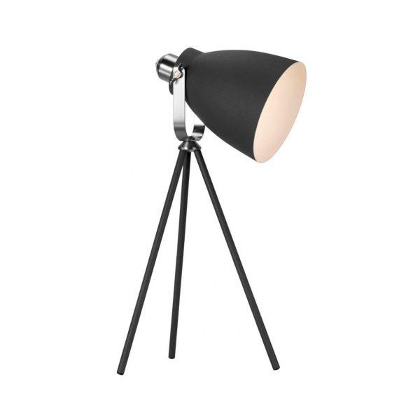 Lampe de table trépied noir Largo