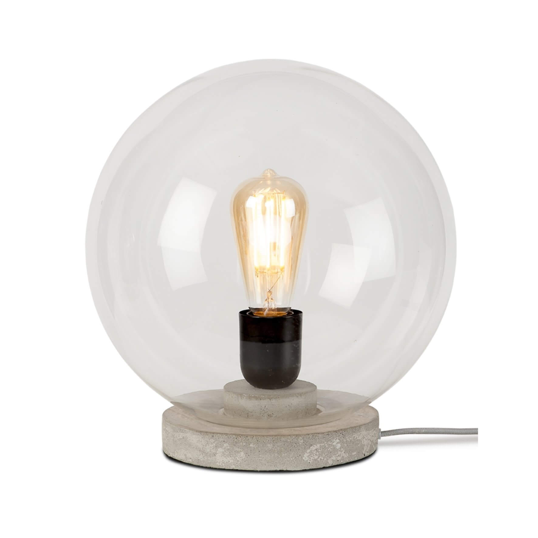 Lampe de table globe en verre Warsaw - It's About Romi