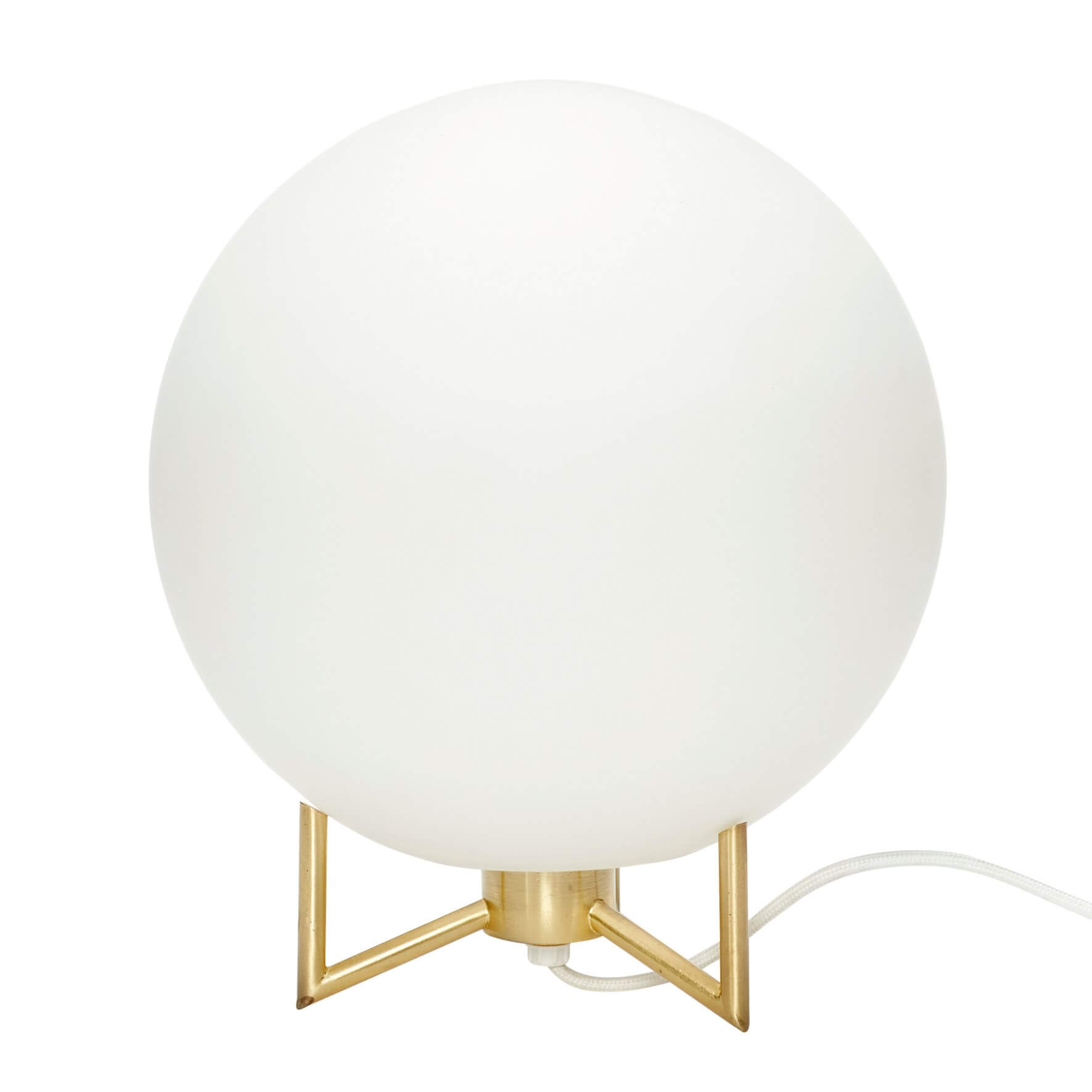 Lampe de table globe opalin