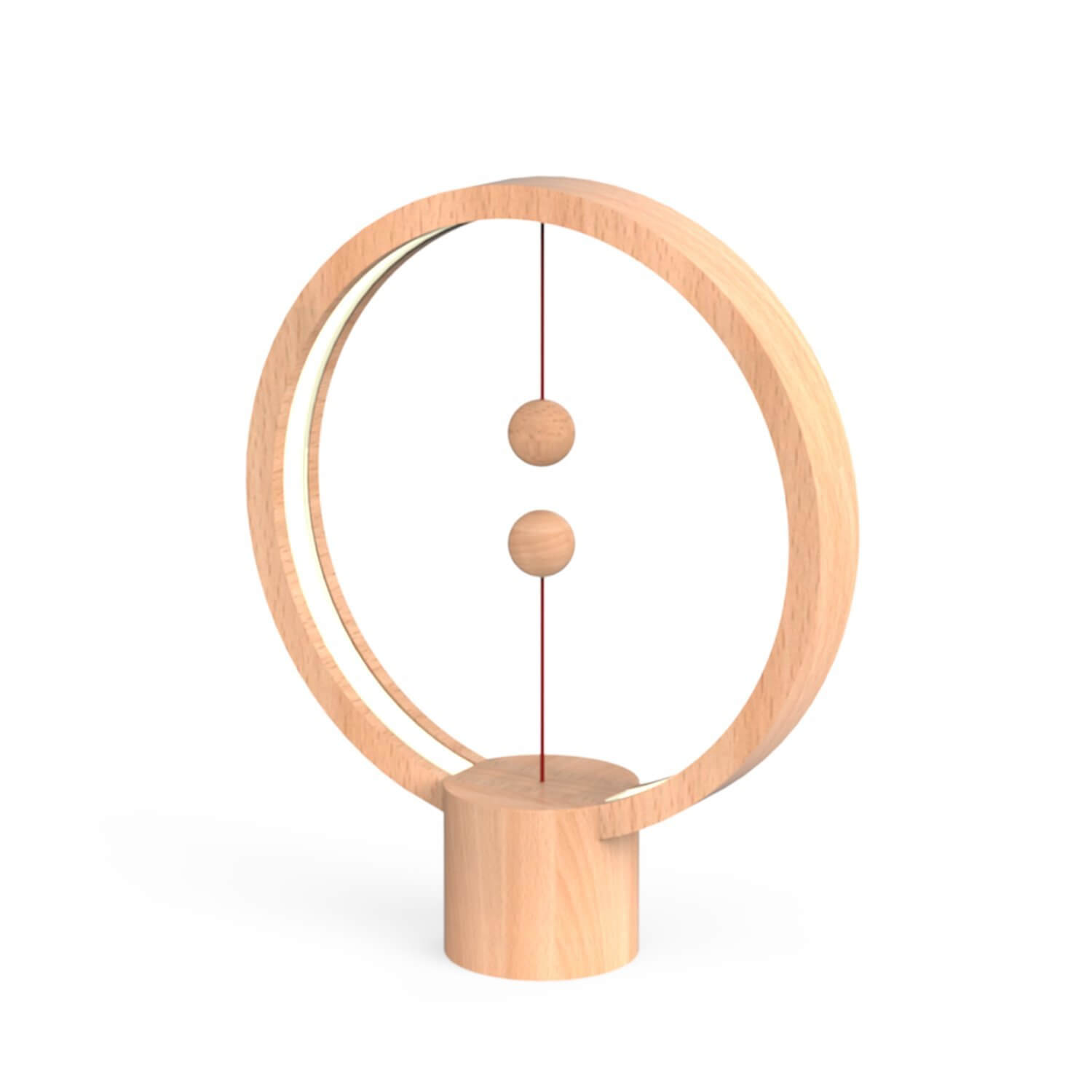 Lampe de table ronde Heng Balance bois naturel