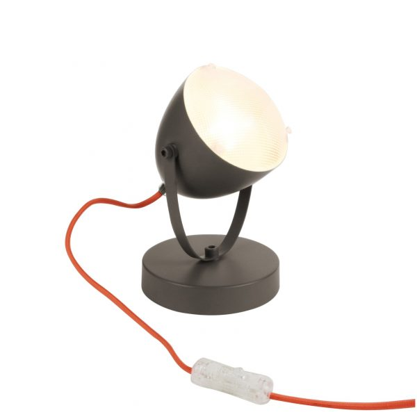 Lampe spot rétro taupe