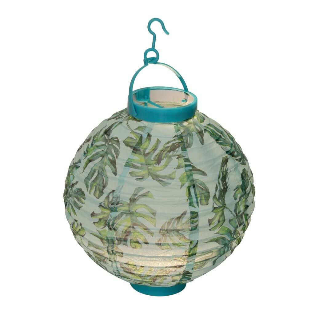 Trio lampions tropical bleu
