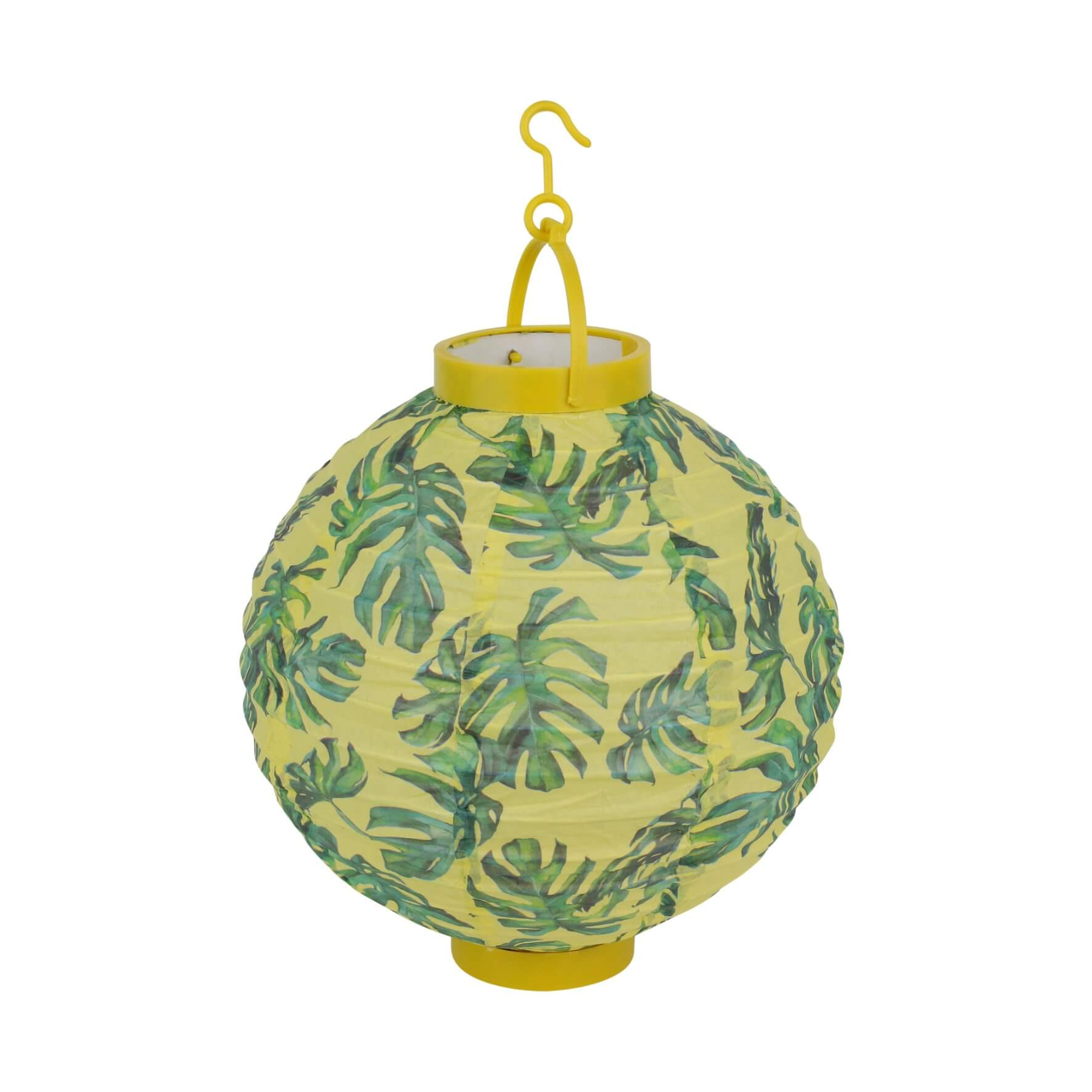 Trio lampions tropical jaune