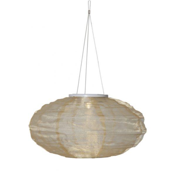 Lampion solaire sable ovale
