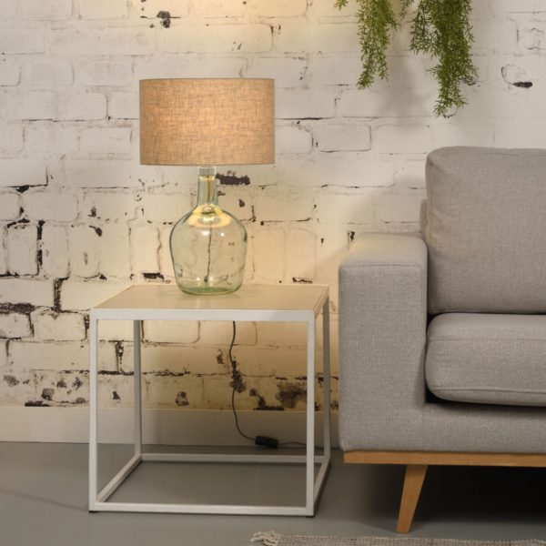 Lampe Murano en verre avec abat-jour gris clair - Good & Mojo