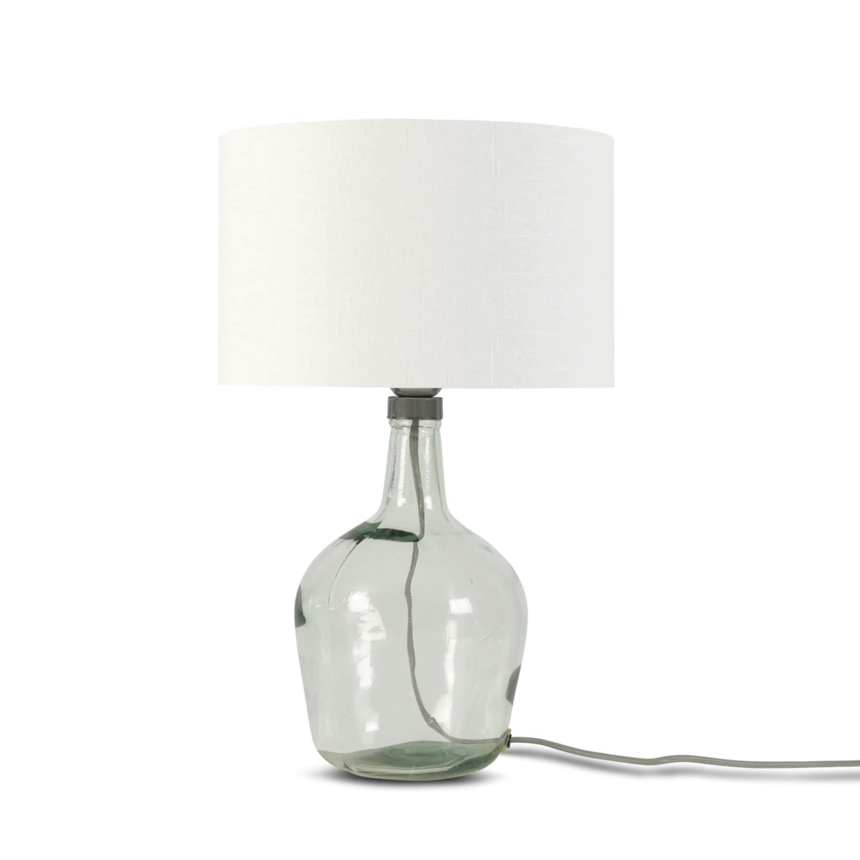 Lampe Murano en verre avec abat-jour blanc - Good & Mojo