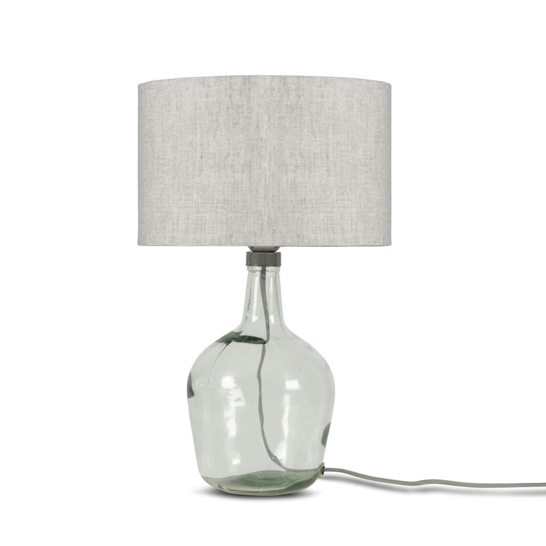 Lampe Murano en verre avec abat-jour gris clair