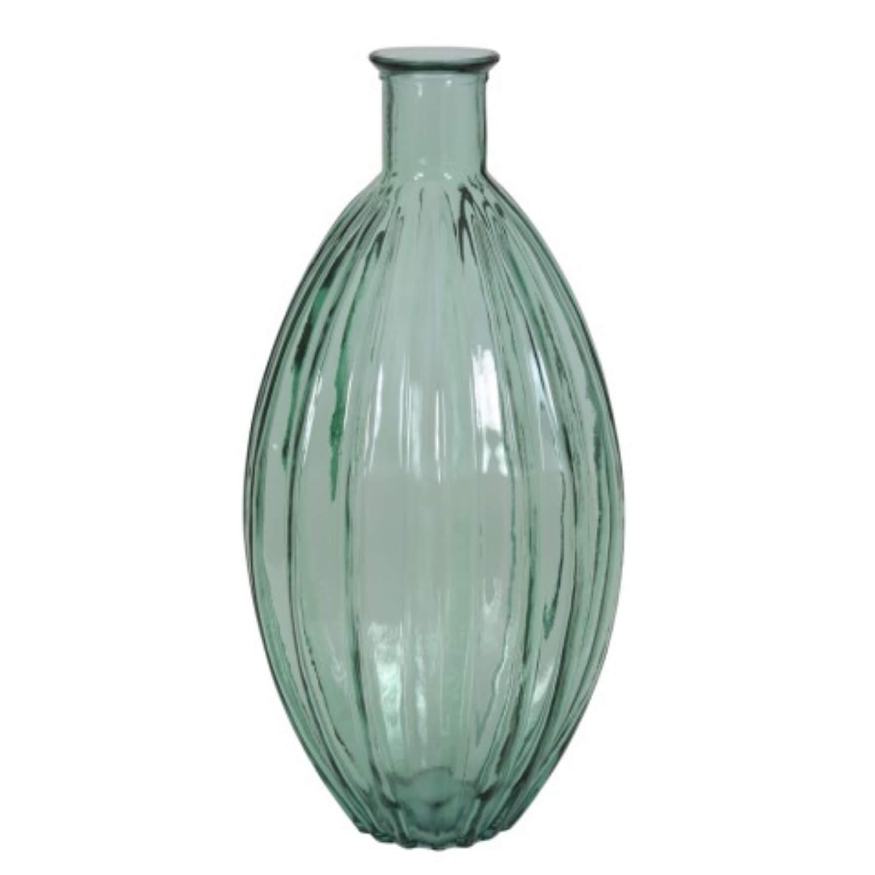 Lampe vase en verre Palloci vert d'eau tall