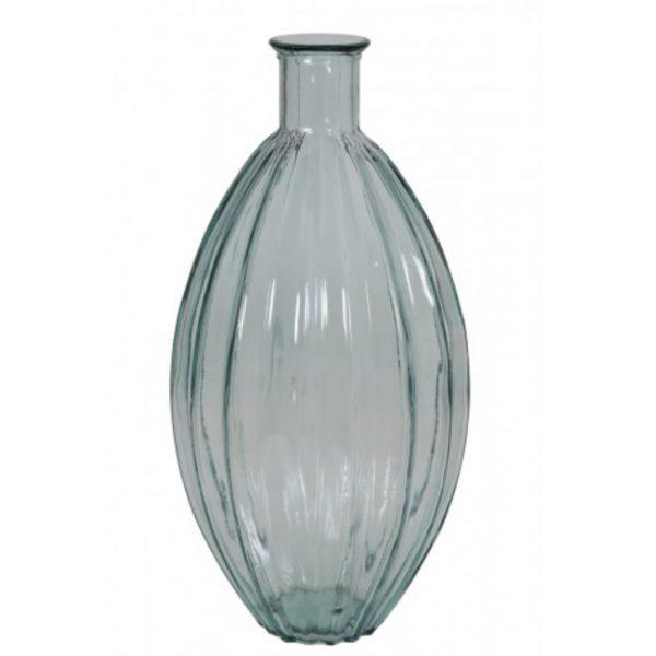 Lampe vase en verre Palloci transparent