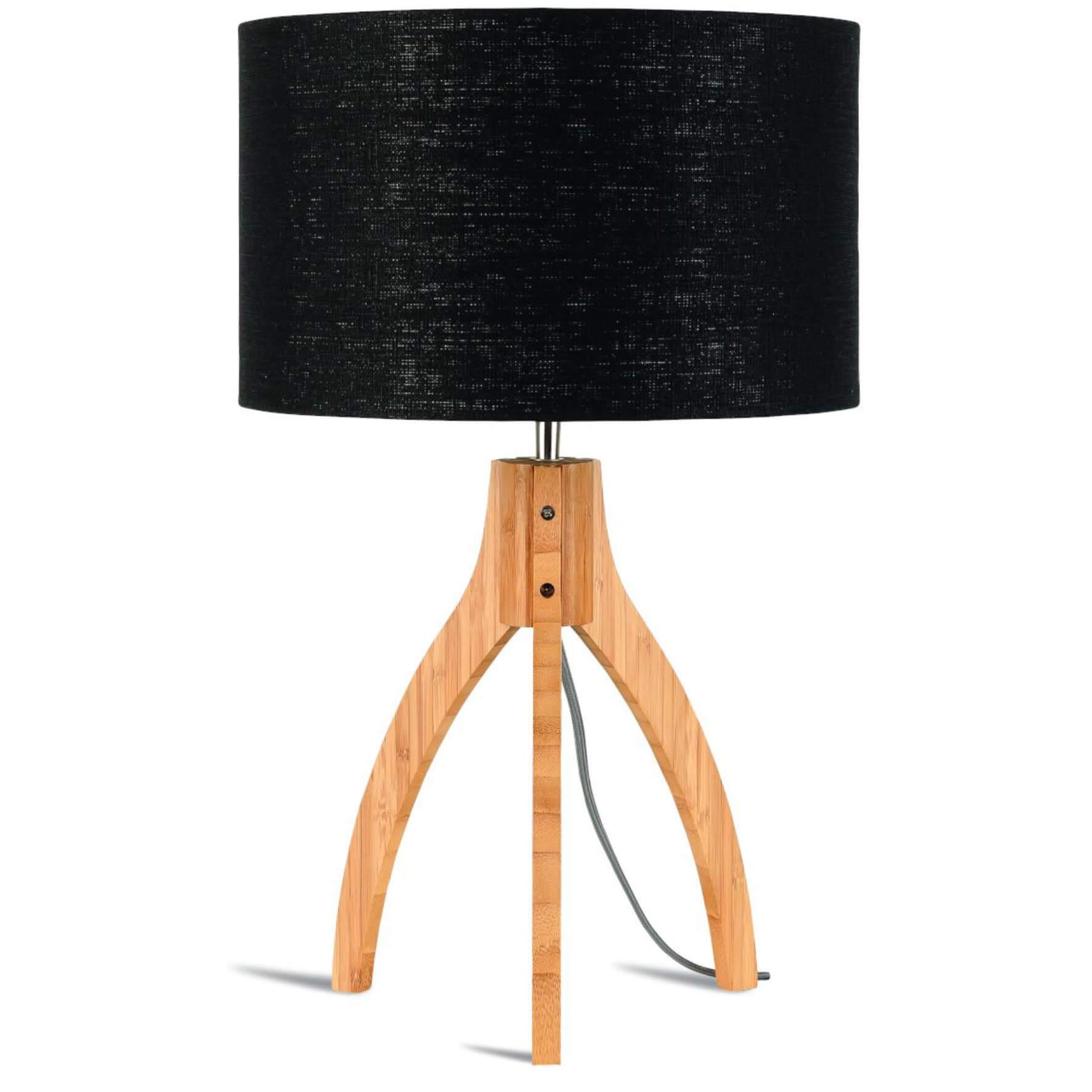 Tischleuchte Annapurna mit schwarzem Lampenschirm - Good & Mojo