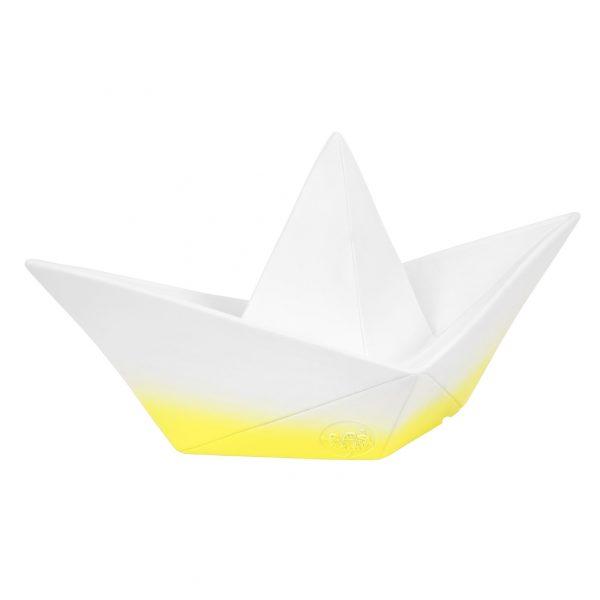 Tischleuchte Paper Boat weiss und gelb