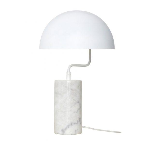 Lampe de table rétro en marbre blanc