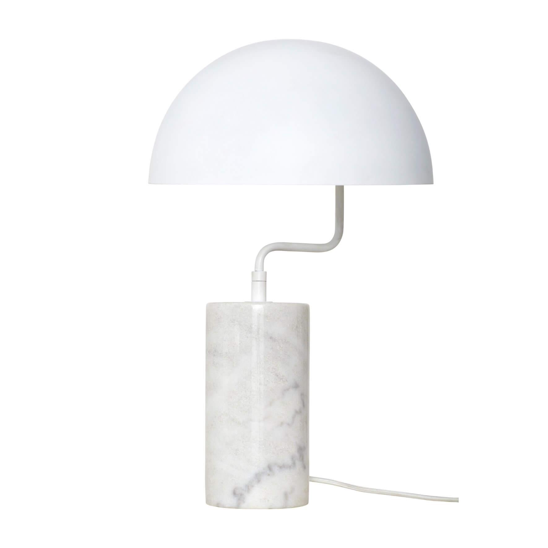Lampe de table rétro en marbre blanc - Hübsch Interior