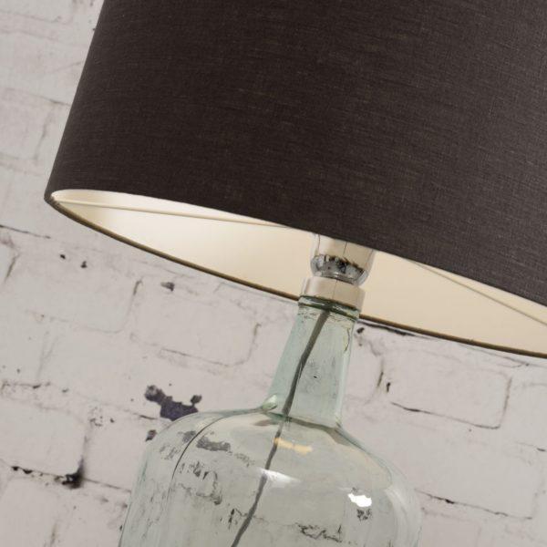 Lampe Murano en verre avec abat-jour noir