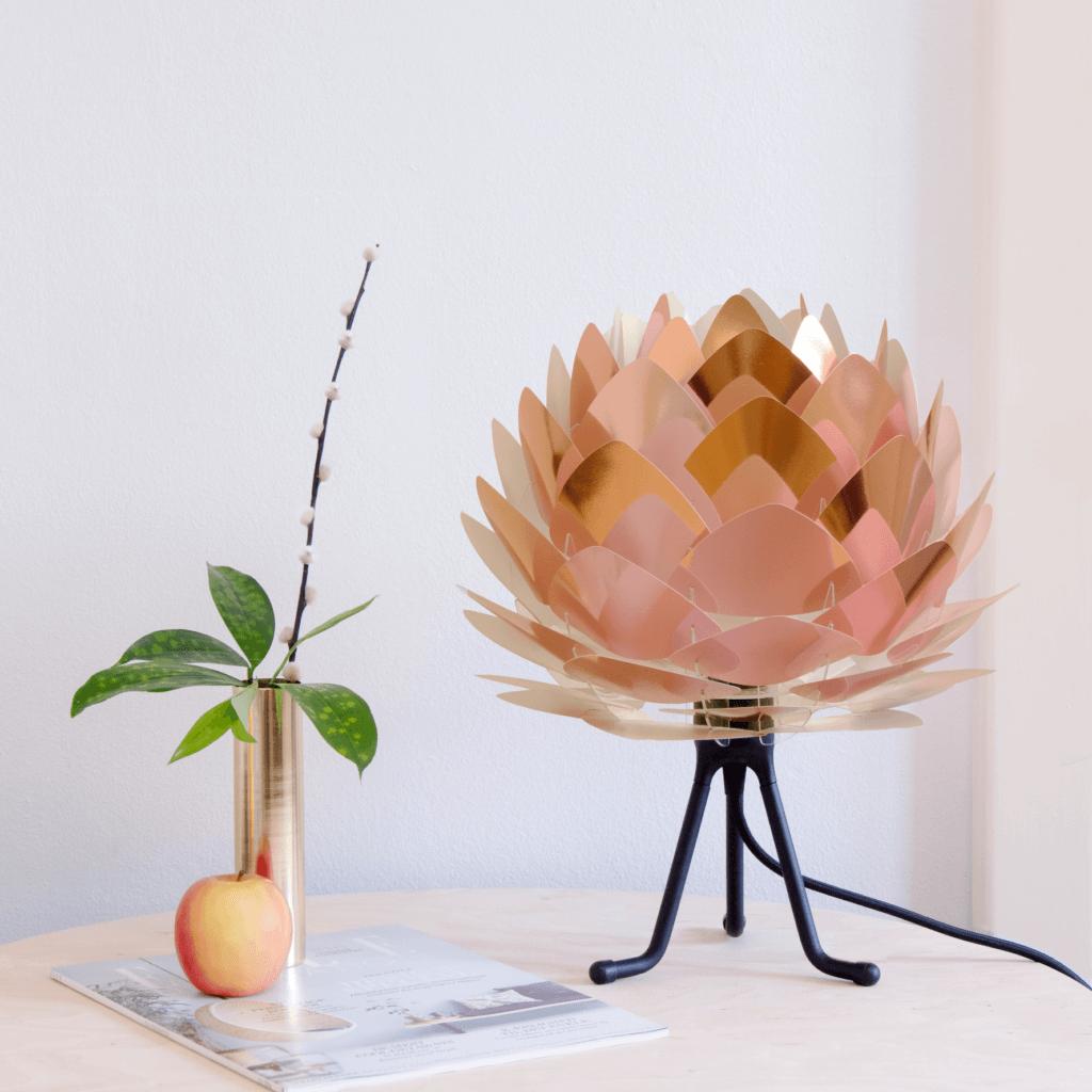 Lampe de table Silvia mini cuivre