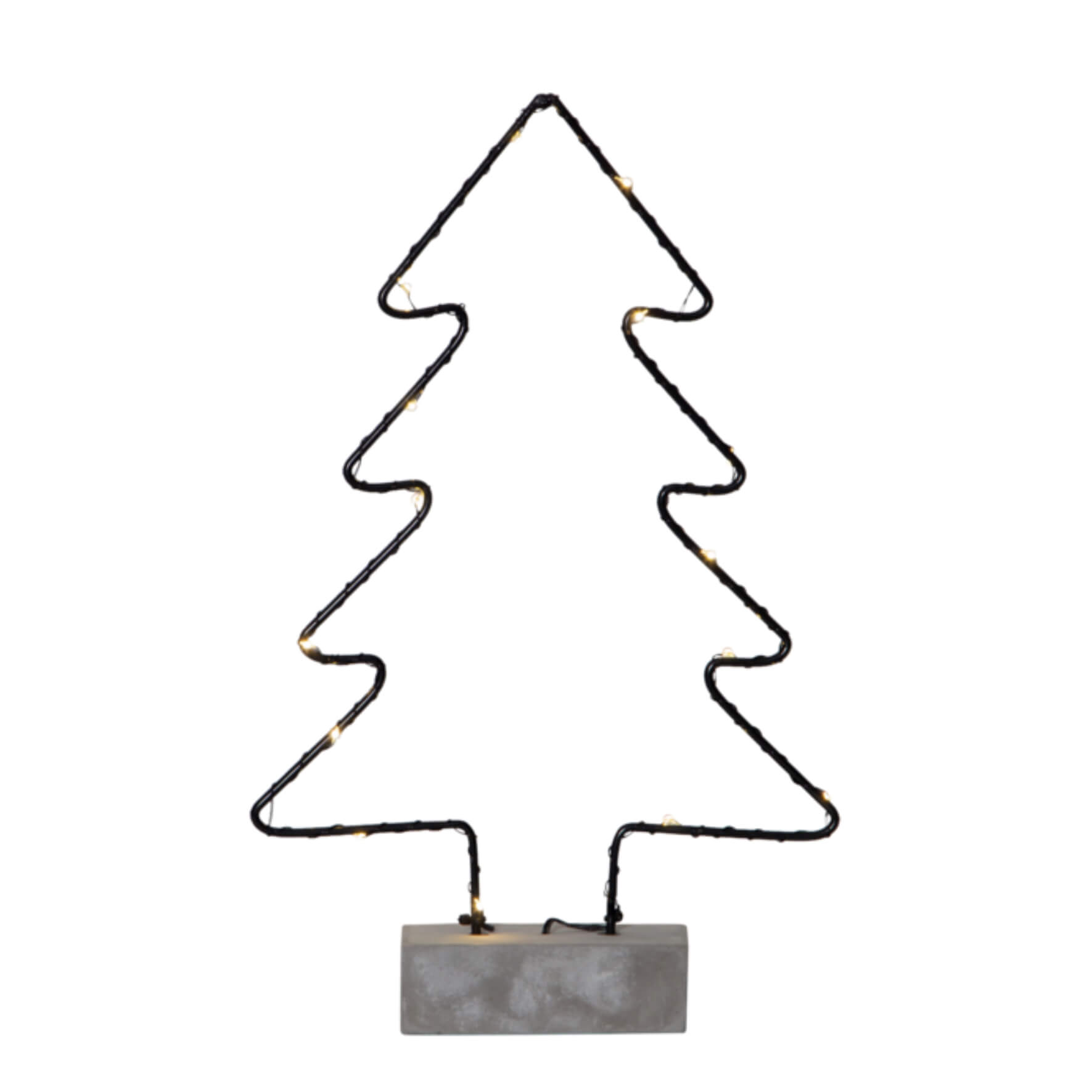 Sapin de Noël LED sur socle