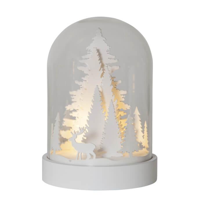Leuchtende Glaskugel Weihnachtsdekor