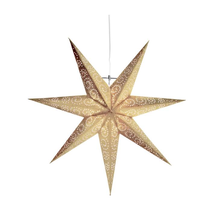 Weihnachtsstern aus Papier gold