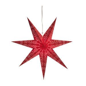 Etoile de Noël en papier rouge carmin