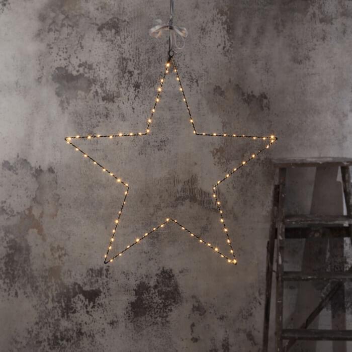 Etoile de Noël LED à accrocher