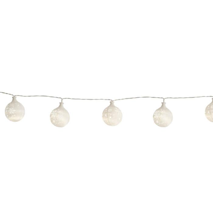 Leuchtende Lichterkette Schneeflocke