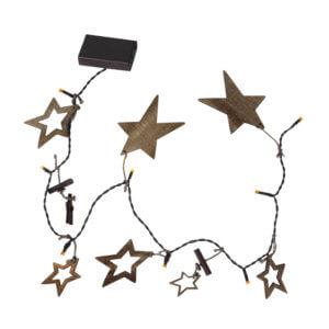 Guirlande Noël avec étoiles en bois