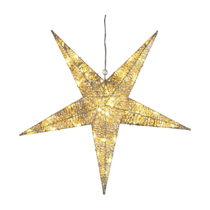 Etoile de Noël Sequin LED argentée