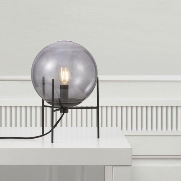 Lampe de table en verre fumé Alton