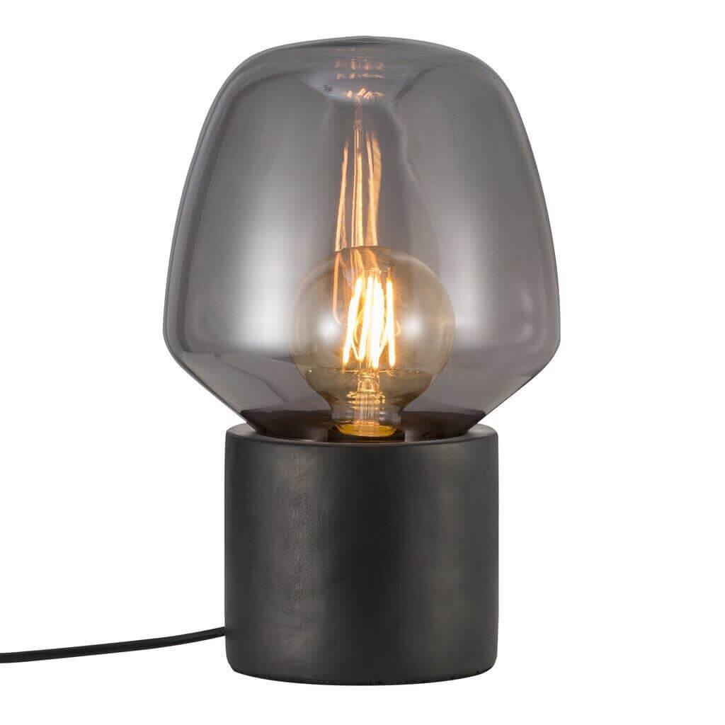 Lampe de table Christina en verre et béton noir -Nordlux