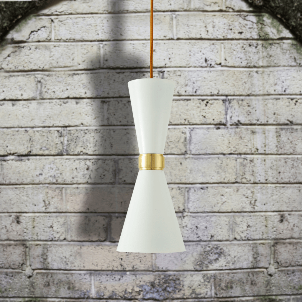 Suspension Cairo blanche - Mullan Lighting