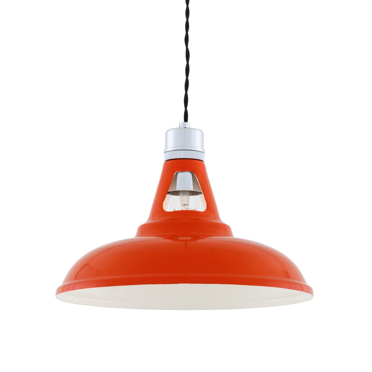 Suspension industrielle Vienna rouge - Mullan Lighting