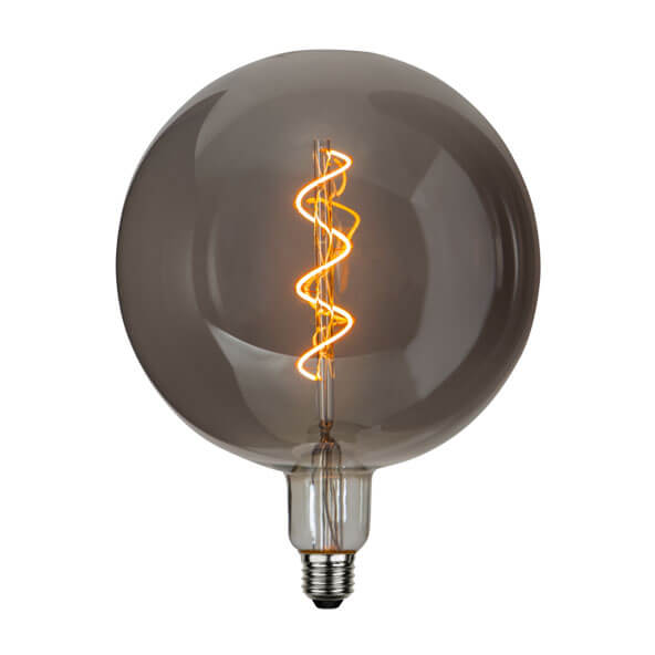 Ampoule LED Twist XXL en verre fumé