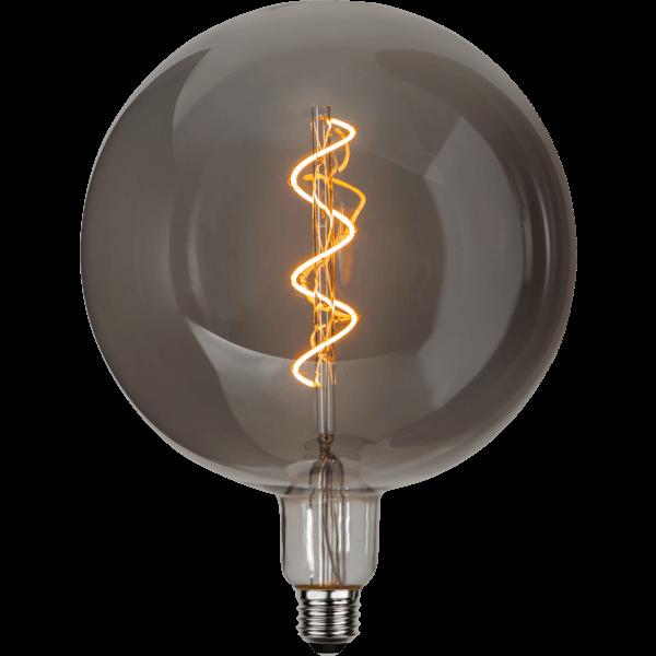 LED-Glühbirne XXL Twist Rauchglas