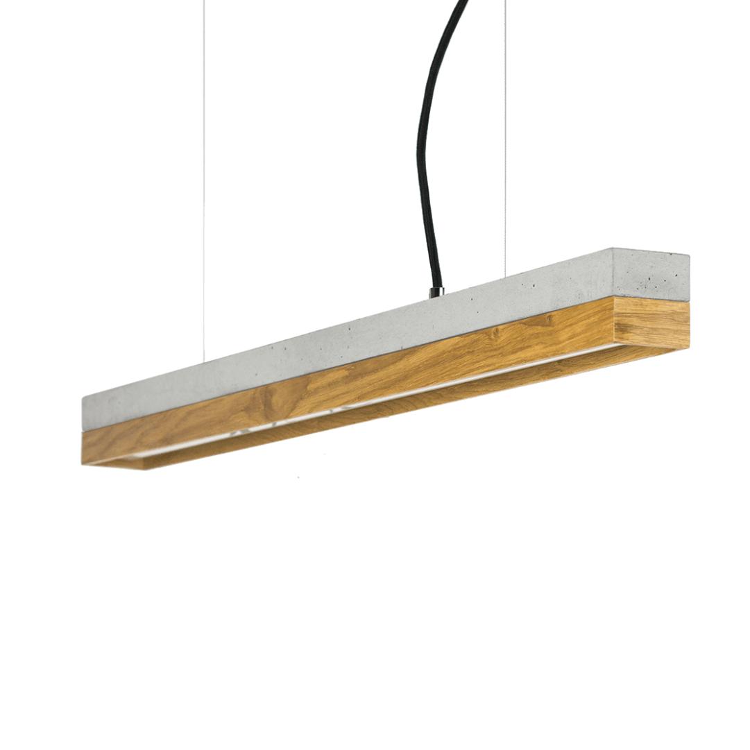Hängeleuchte [C2] aus Beton und Holz 92cm GANTLights